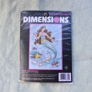 NWT 1997 Dimensions The Mermaid cross stitch kit